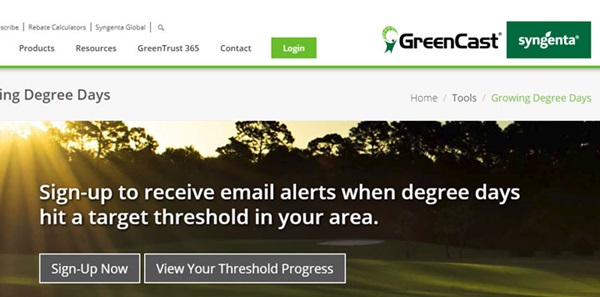 Syngenta GreenCast Growing Degree Days
